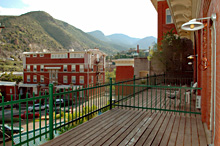 106 Deck - Gym Club Suites, Bisbee Arizona Hotels
