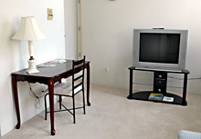Big Screen TV - Gym Club Suites, Bisbee Arizona Hotels